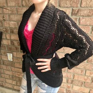 MARCIANO Black Shimmery Sweater